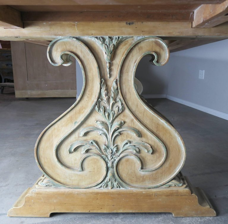 Italian Carved and Painted Dining Room Table, circa 1930s $12,000 6