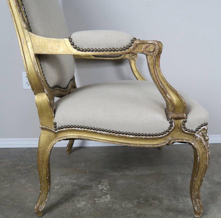 Pair of 19th Century French Giltwood Fauteuils 2
