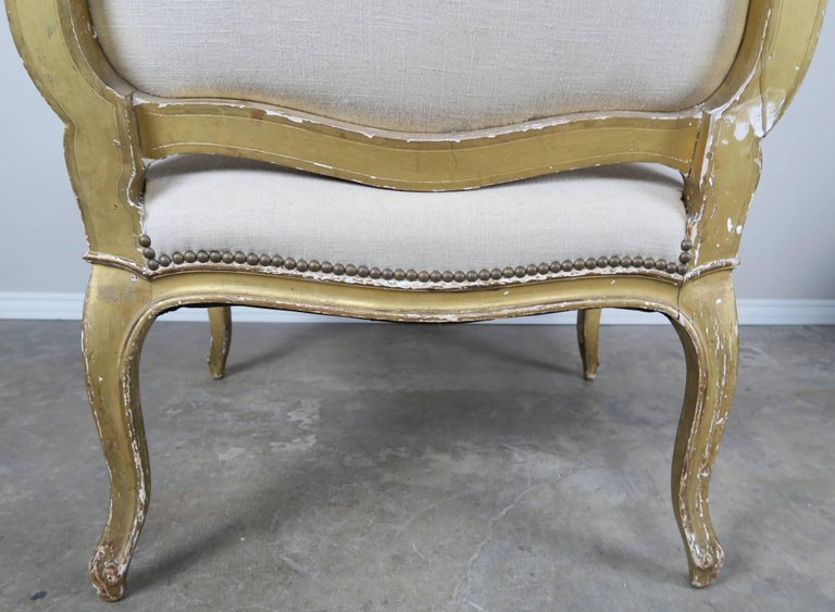 Pair of 19th Century French Giltwood Fauteuils 4