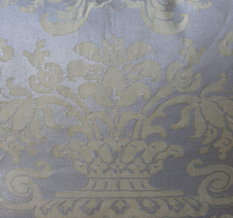 Pair of Fortuny Carnavalet Avocado and Silvery Gold Pillows 3