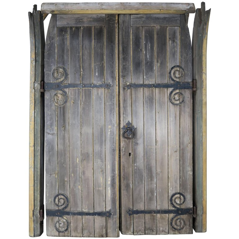 Pair of Monumental Spanish Barn Doors with Iron Hardware  sc 1 st  Melissa Levinson Antiques & Pair of Monumental Spanish Barn Doors with Iron Hardware | Melissa ...