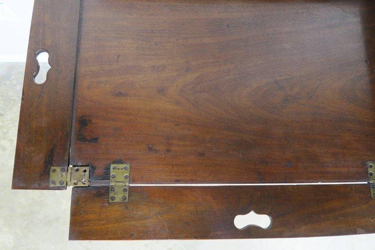 19th Century English Mahogany Tray on Stand 5