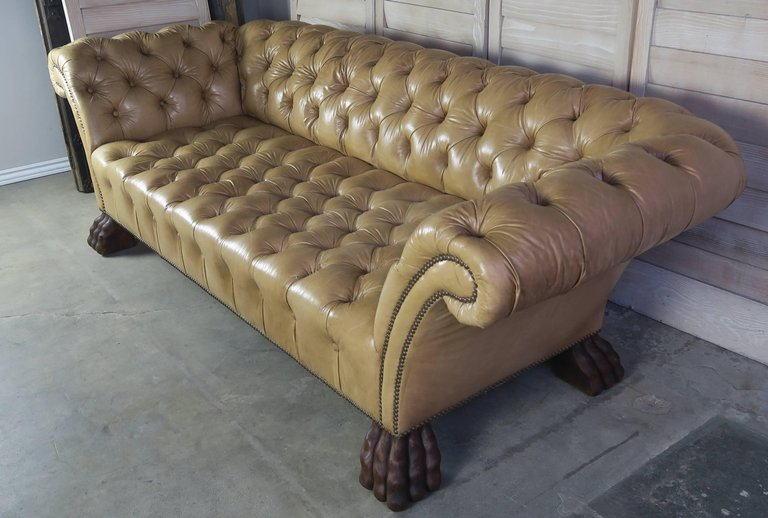 Custom Chesterfield Tufted Leather Sofa By Melissa Levinson Melissa Levinson Antiques