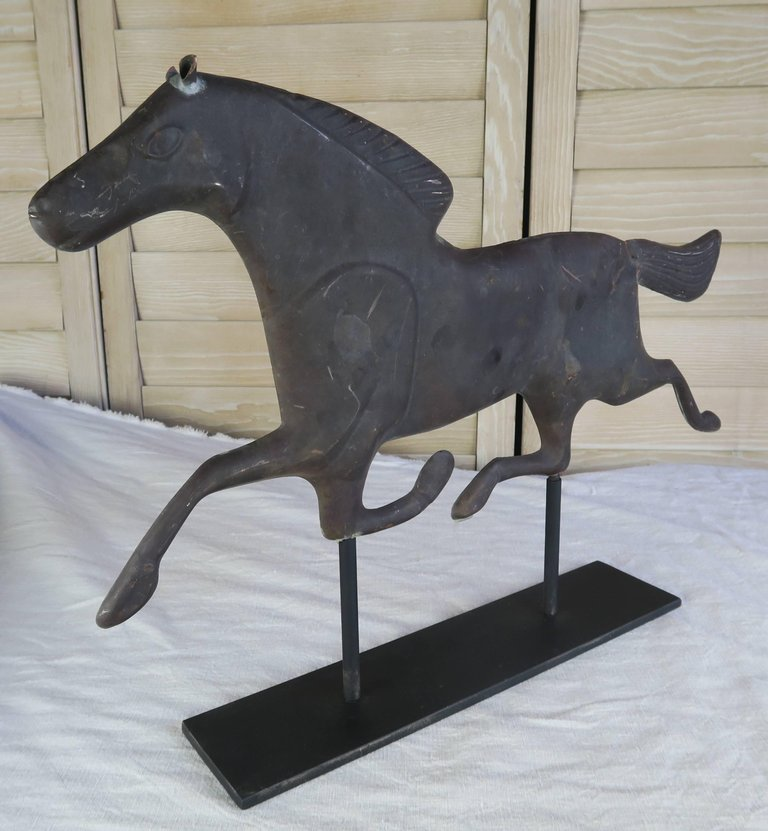Dexter Horse Weather Vane on Iron Base 3