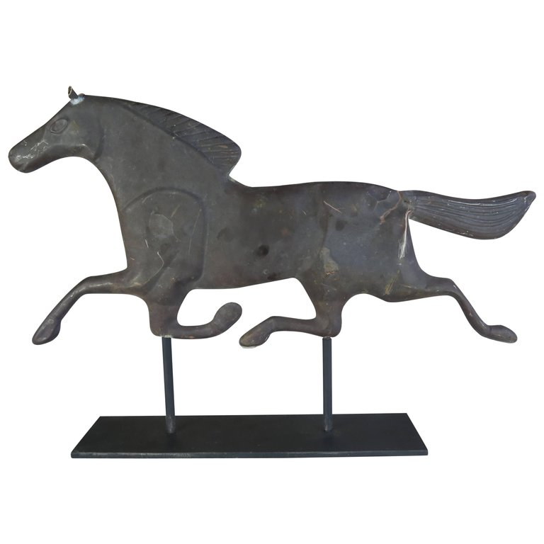 Dexter Horse Weather Vane on Iron Base