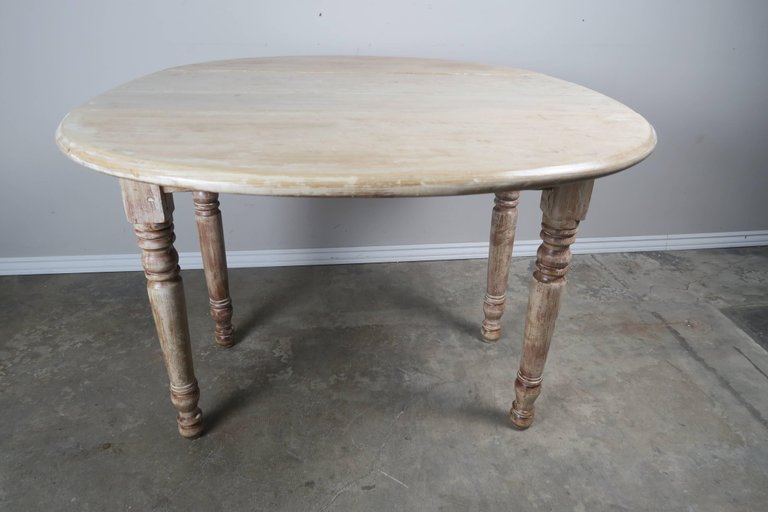 English Drop-Leaf Table with Natural Washed Finish 3