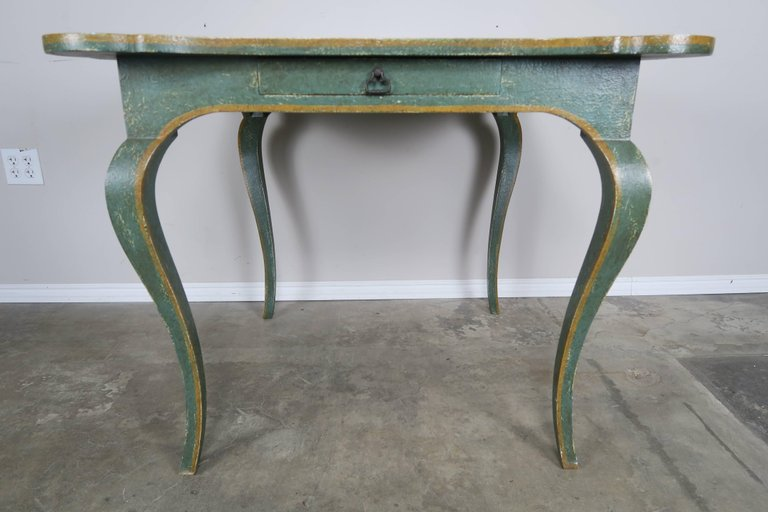 Minton-Spidell Game Table with Embossed Leather Top 3