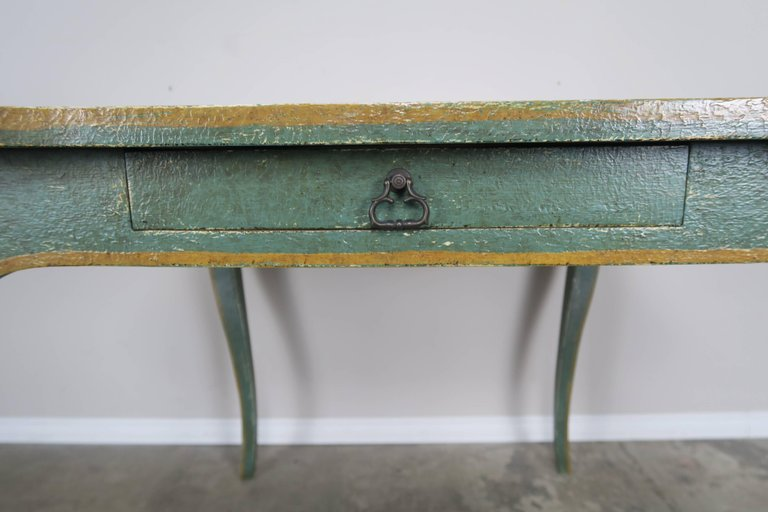 Minton-Spidell Game Table with Embossed Leather Top 4
