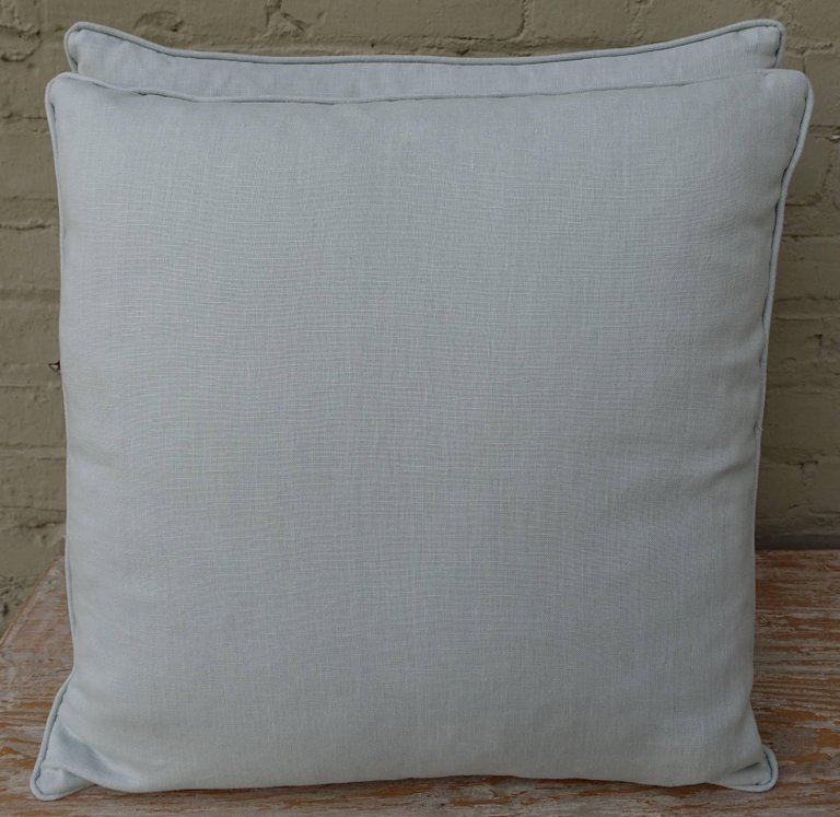Pair of Gold Stenciled Nomi Linen Pillows by Melissa Levinson 5