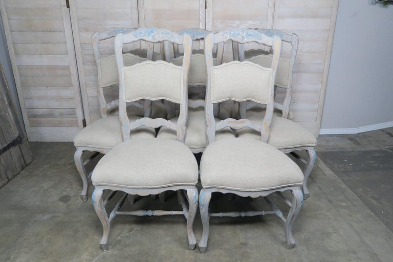 Set of Eight French Country Dining Chairs 1