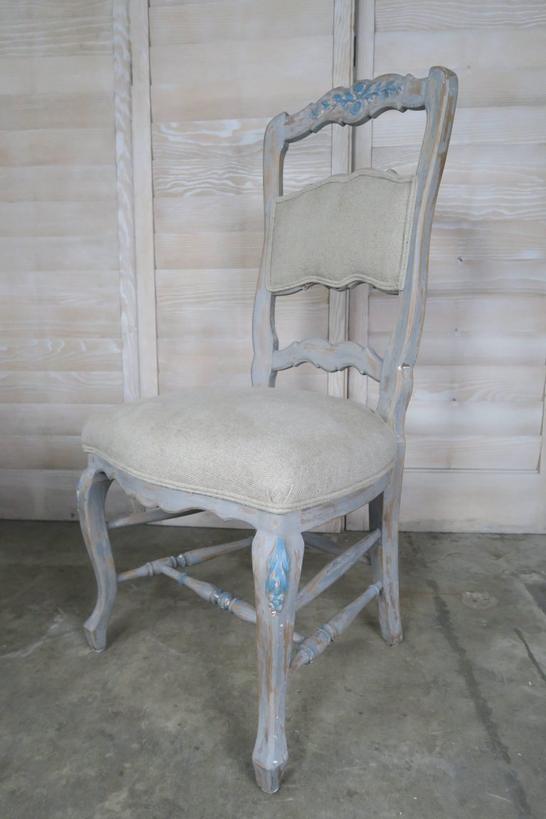 Set of Eight French Country Dining Chairs 5