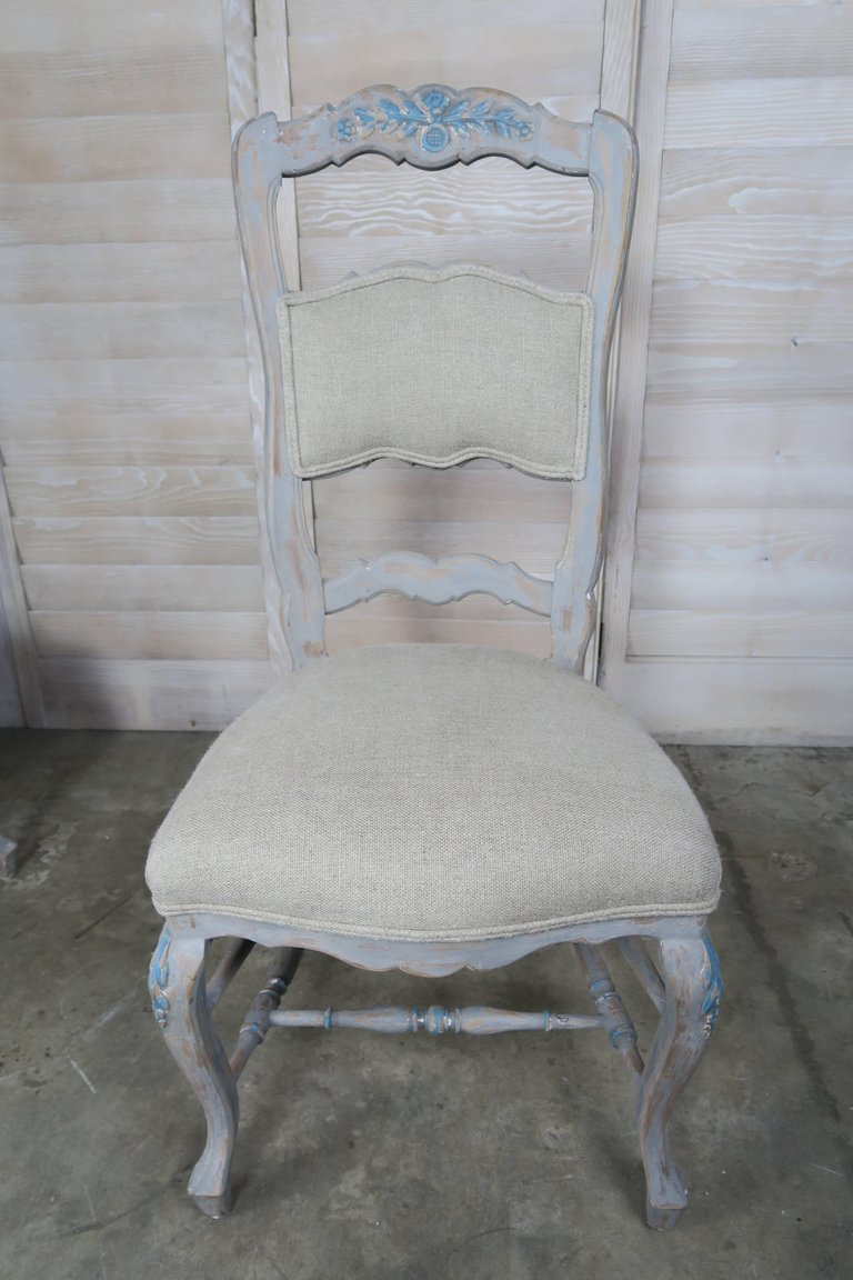 Set of Eight French Country Dining Chairs 6