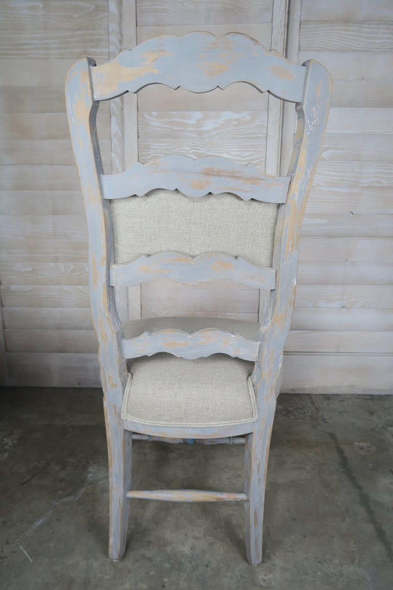 Set of Eight French Country Dining Chairs 8
