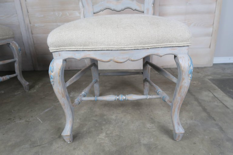 Set of Eight French Country Dining Chairs 9