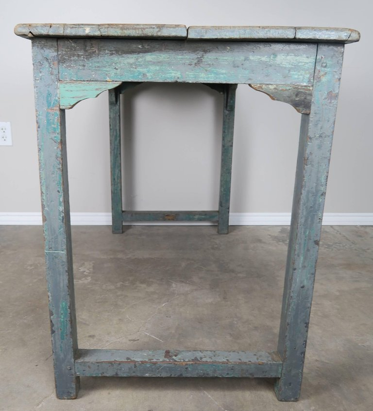 Swedish Blue Painted and Natural Wood Table 3
