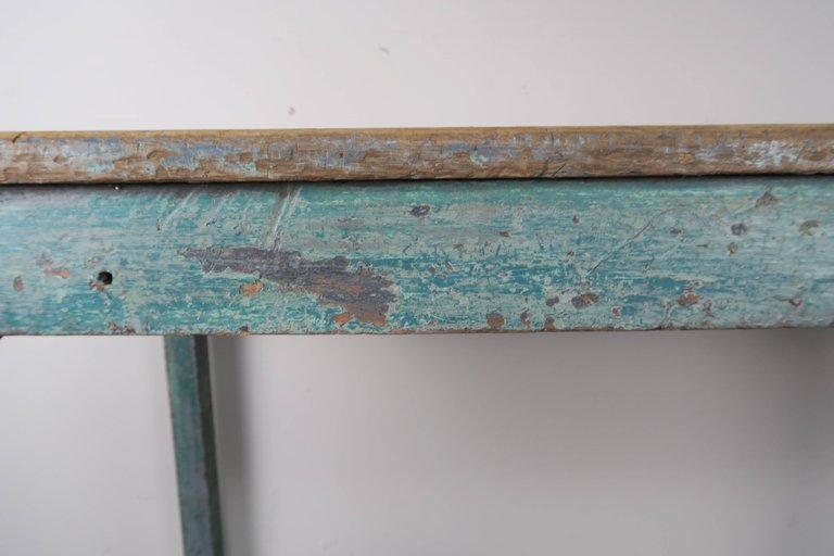 Swedish Blue Painted and Natural Wood Table 5