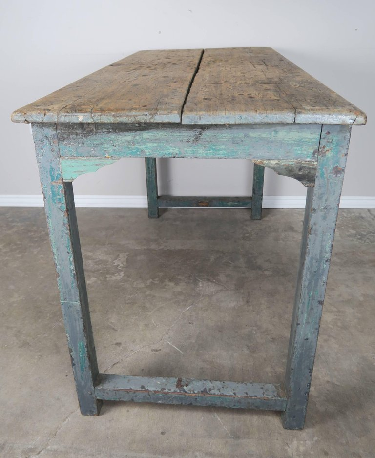 Swedish Blue Painted and Natural Wood Table 7