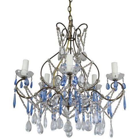 Cobalt blue clear crystal chandelier cobalt blue clear crystal chandelier aloadofball Choice Image