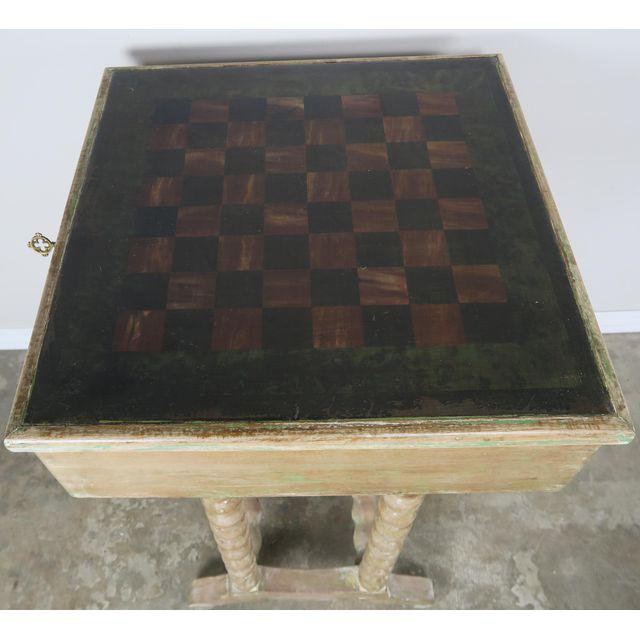 vintage-english-checkerboard-top-game-table-4692