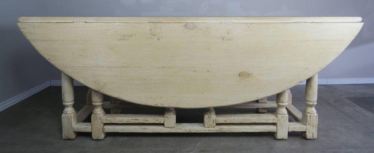 19th Century English Bleached Walnut Gateleg Table 3