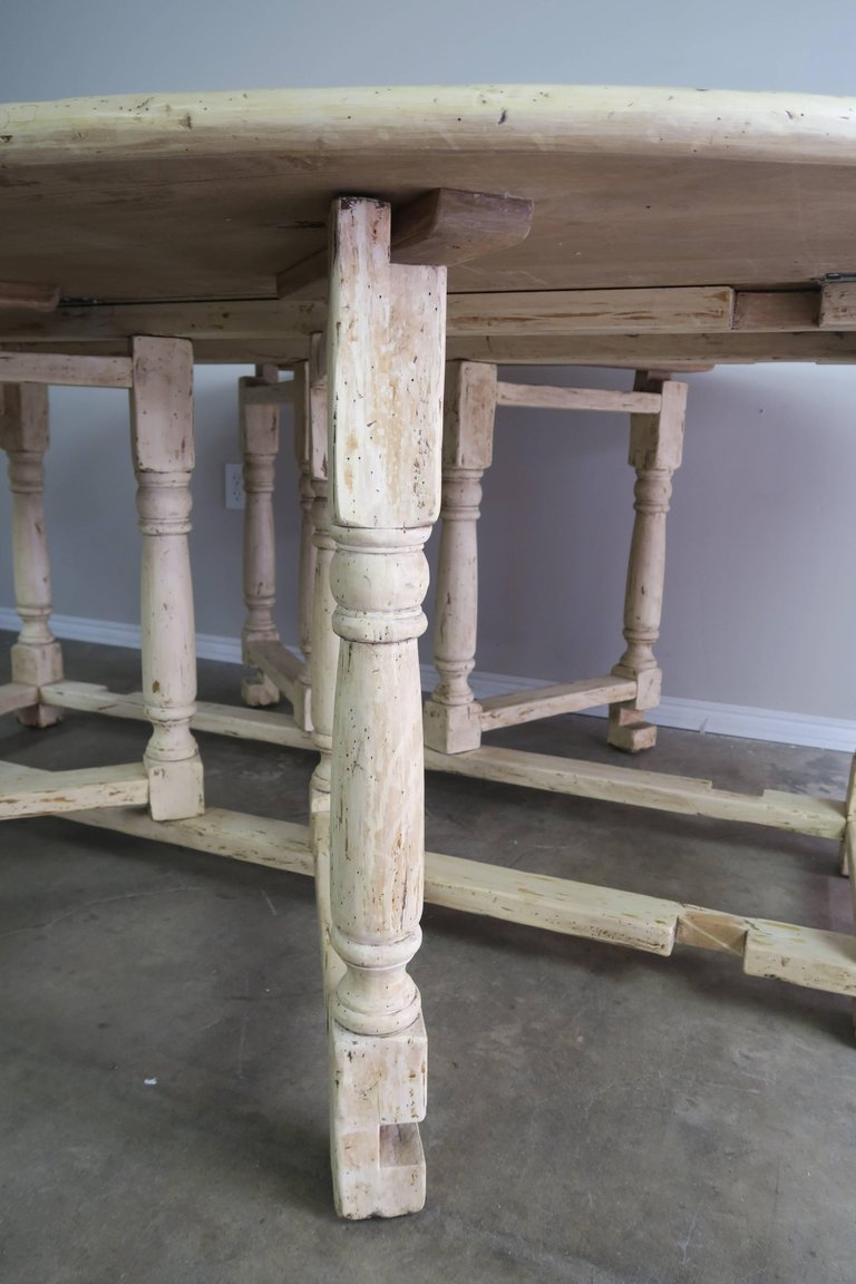 19th Century English Bleached Walnut Gateleg Table 4