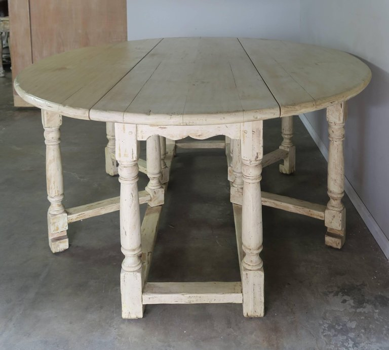 19th Century English Bleached Walnut Gateleg Table 5
