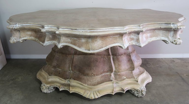 19th Century, French Carved Walnut Center Table 2