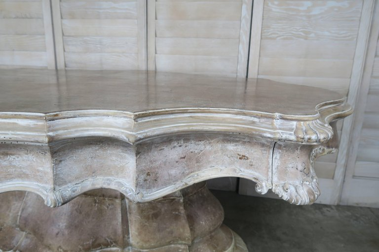 19th Century, French Carved Walnut Center Table 6