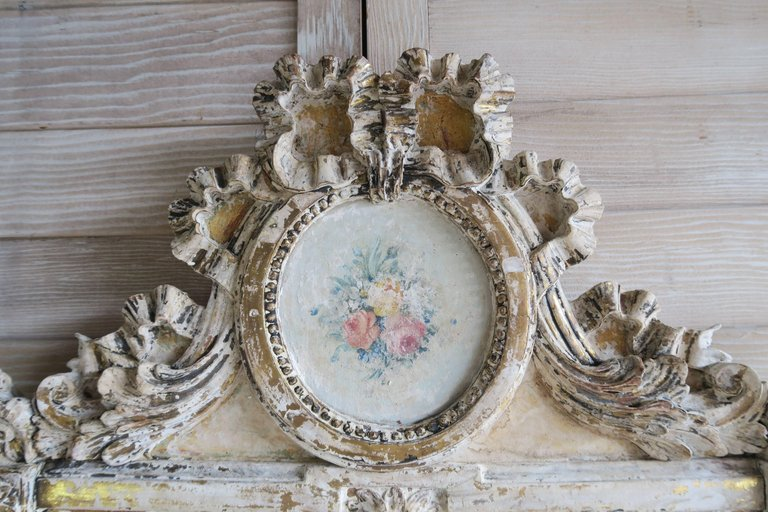 19th Century French Painted Louis XV Style Mirror 2