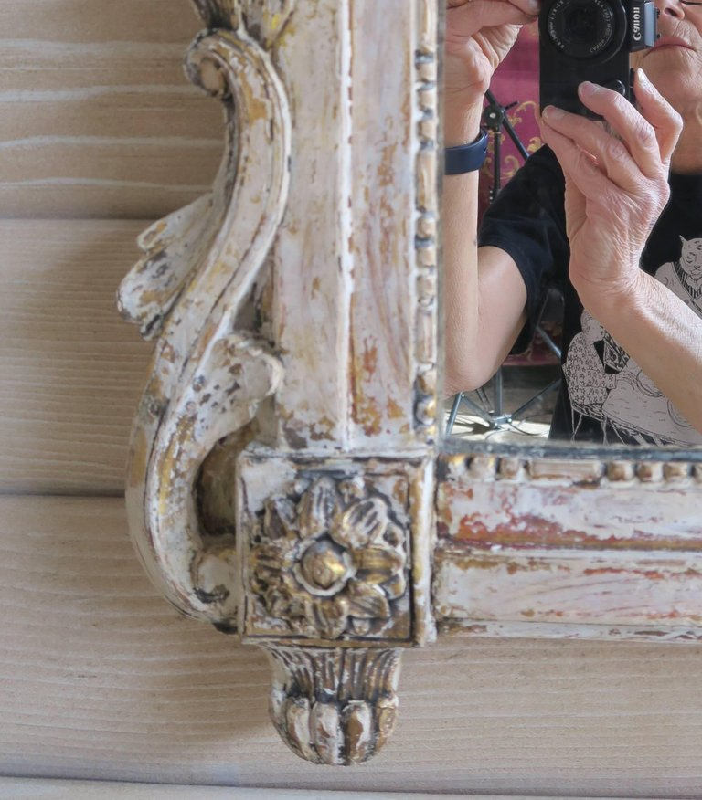 19th Century French Painted Louis XV Style Mirror 3