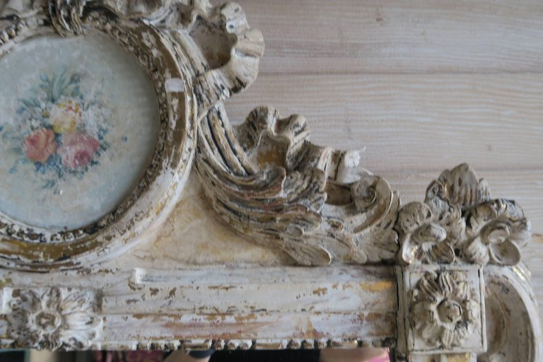 19th Century French Painted Louis XV Style Mirror 5