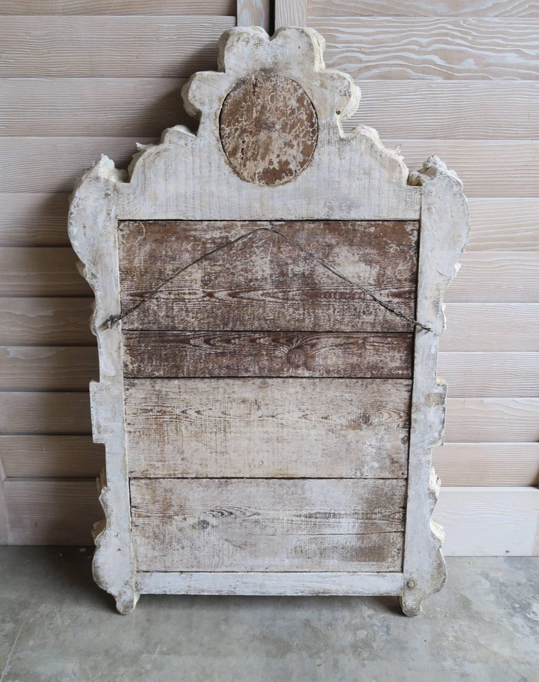 19th Century French Painted Louis XV Style Mirror 6