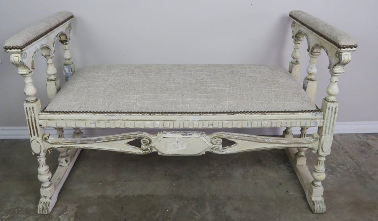 19th Century Swedish Painted Bench