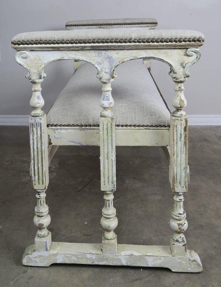 19th Century Swedish Painted Bench 3