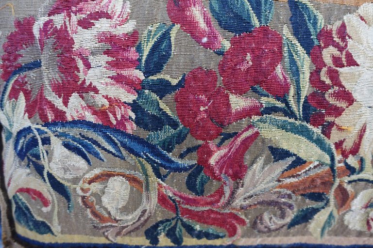 Pair of 17th Century Flemish Tapestry Pillows