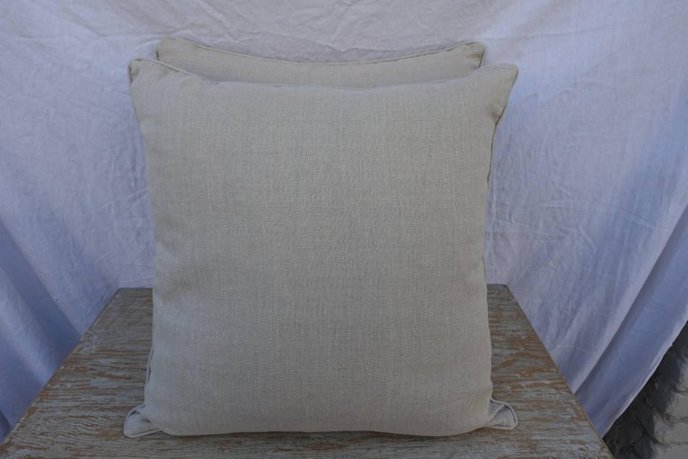 Pair of Italian Fortuny Cimarosa Patterned Pillows 2