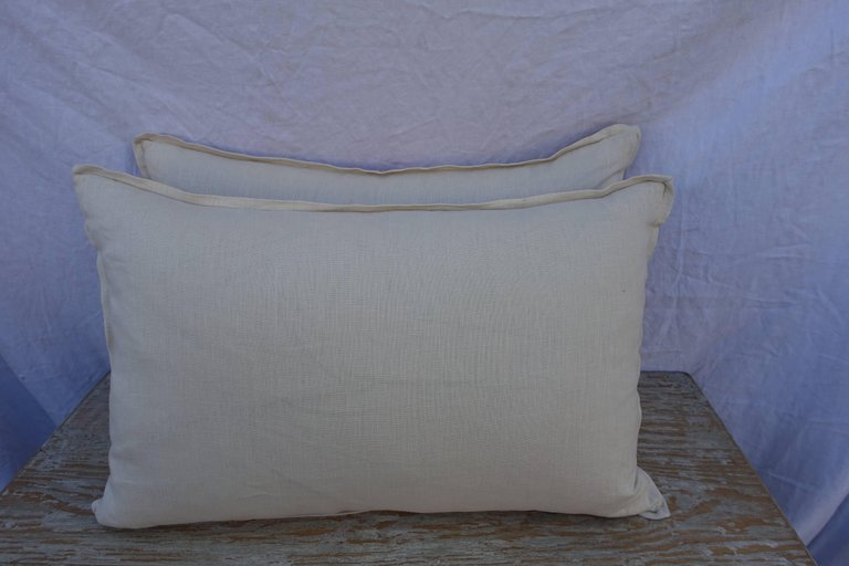 Pair of Manzianno Patterned Fortuny Pillows 2