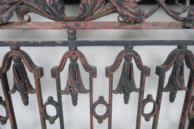 19th Century French Wrought Iron Console with Marble Top 5