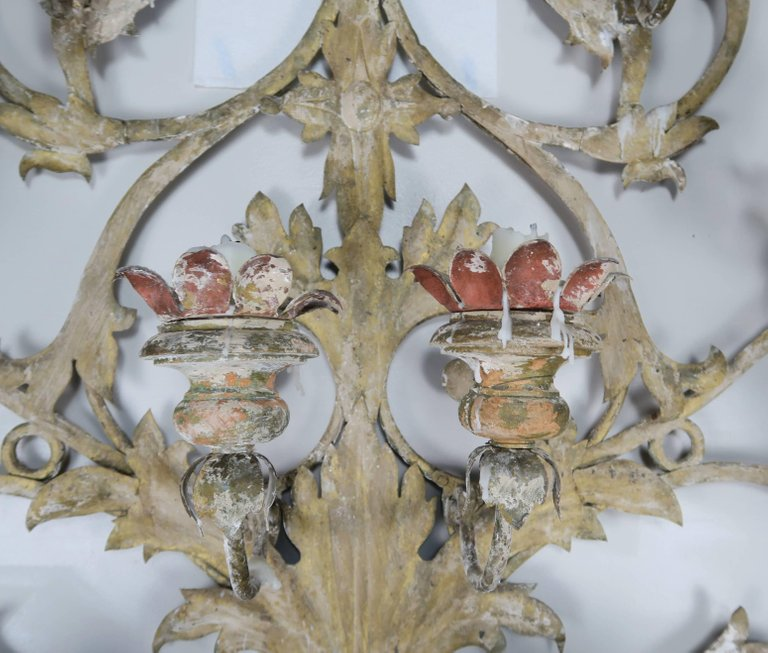 19th Century Italian 16-Light Wall Ornament for Candles 3