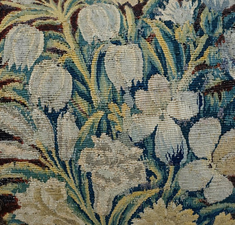 18th Century Flemish Tapestry Pillows, Pair 4