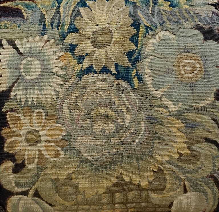 18th Century Flemish Tapestry Pillows, Pair 5