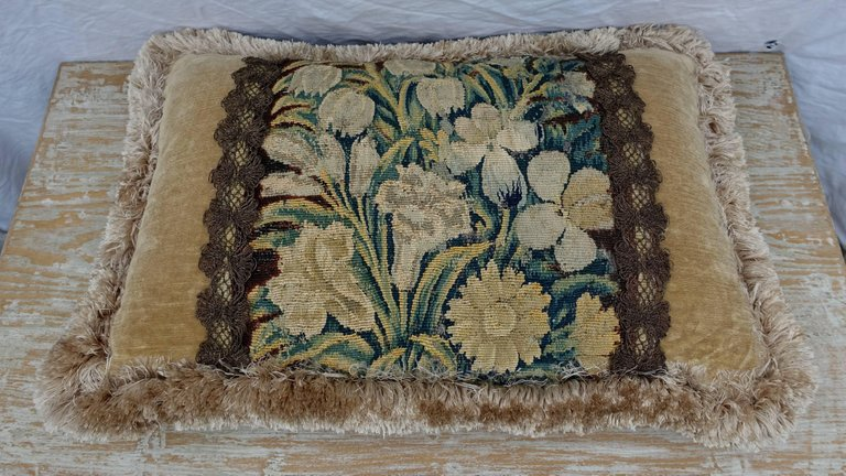 18th Century Flemish Tapestry Pillows, Pair 6