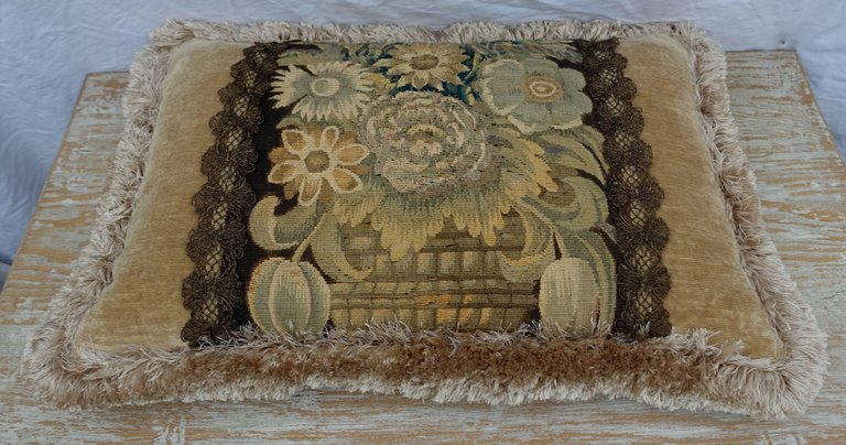 18th Century Flemish Tapestry Pillows, Pair 7