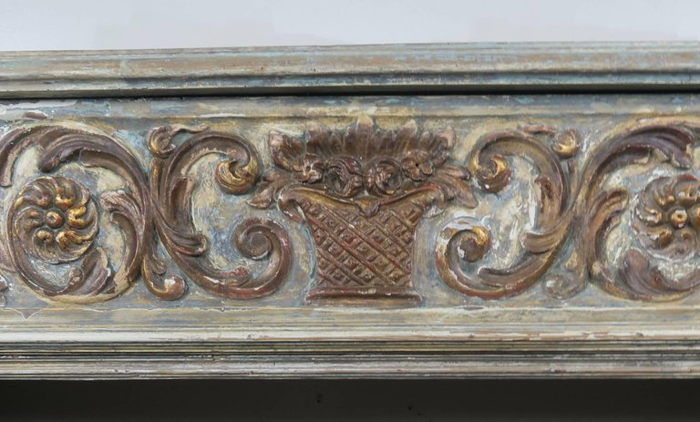 19th Century Italian Painted and Parcel-Gilt Fireplace Mantel3