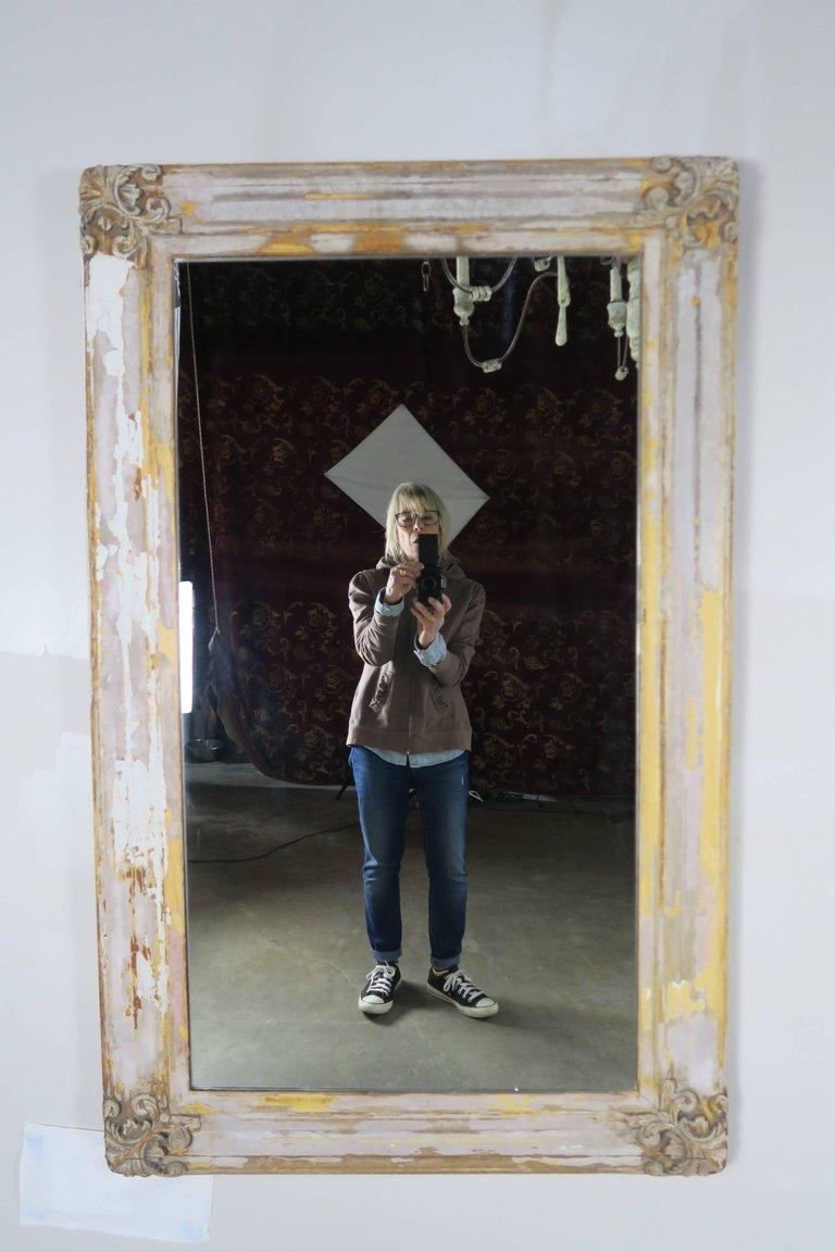19th Century Swedish Painted Mirror 1