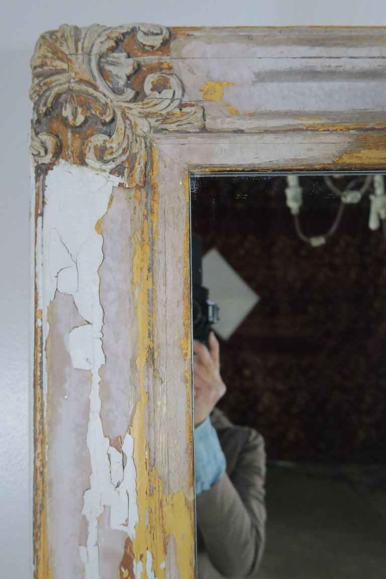 19th Century Swedish Painted Mirror 4