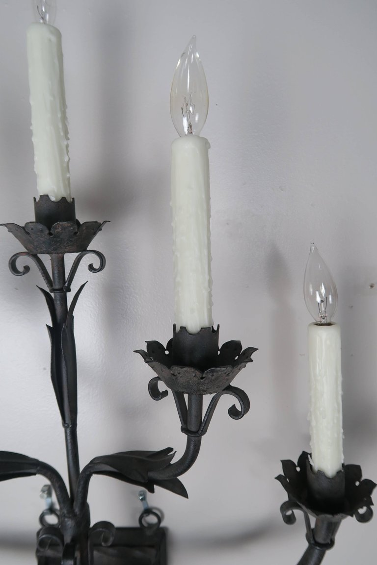 iron sconce wrought explore foter sconces rustic wall candles candle