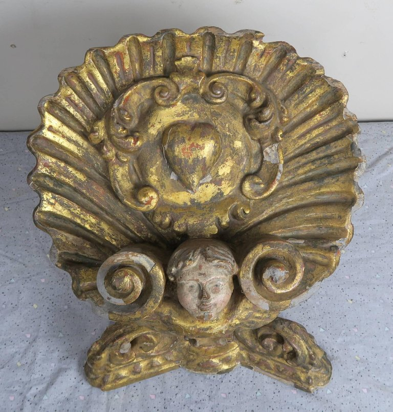 19th Century Italian Giltwood Polychromed Book Stand3
