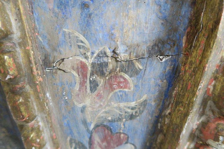 19th Century Spanish Painted Corbel:Shelf2