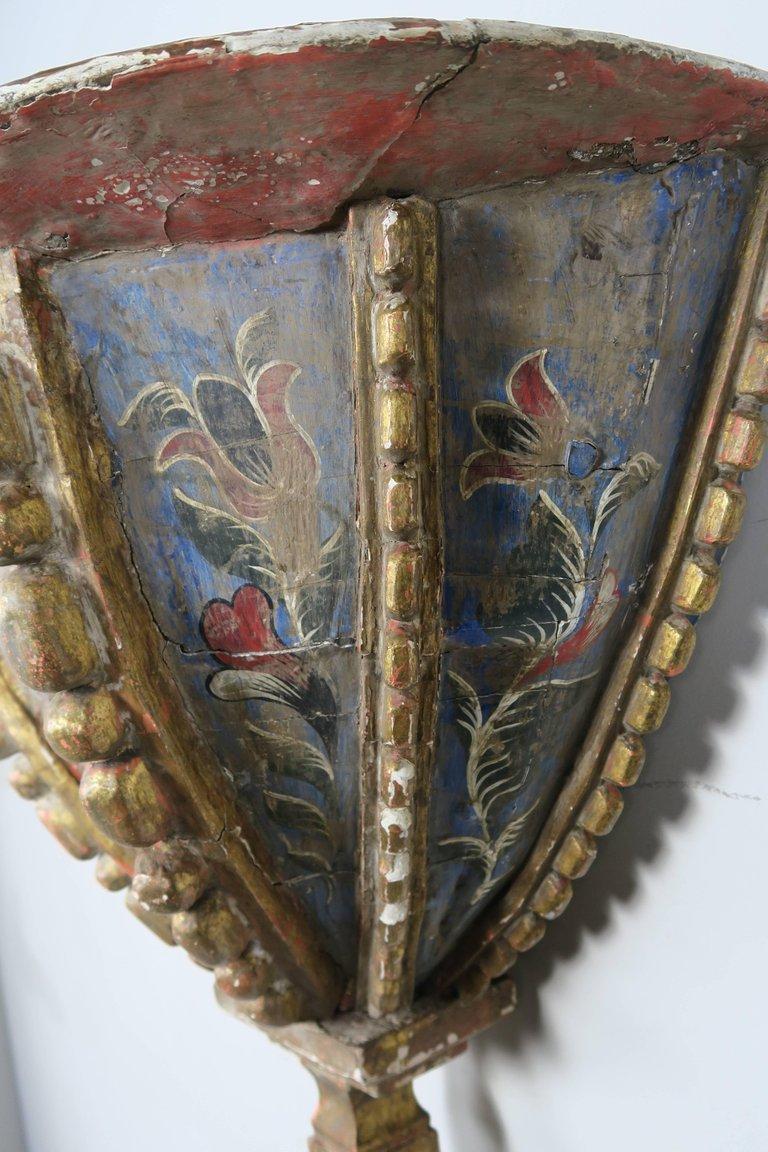 19th Century Spanish Painted Corbel:Shelf3